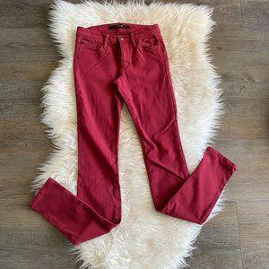 Joe's Jeans Skinnny Jeans in Red